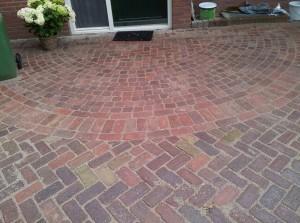 Voorbeelden Terras Bestrating : Hout beton schutting: sierbestrating voorbeelden terras